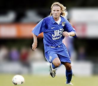 Mark Van den Boogaart durante un partido con el NEC Nimega holand�s, su anterior equipo