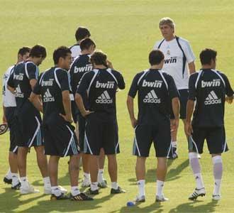 El Madrid ha entrenado en cuadro