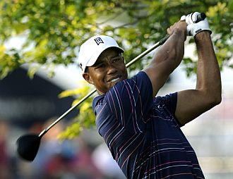Tiger Woods se entrena en Hazeltine.