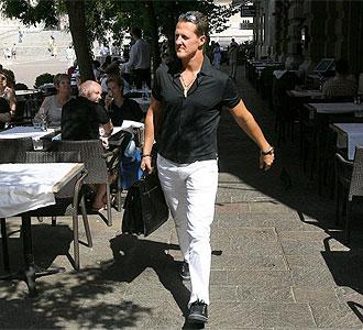 Schumacher tras visitar a Massa en Budapest.