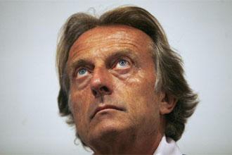 Luca di Montezemolo, presidente de Ferrari, en rueda de prensa.