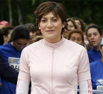 Mayte Martínez, en la Carrera de La Mujer en 2008