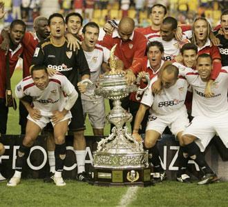 Final del Trofeo Carranza de la pasada temporada entre el Sevilla, campe�n, y el C�diz