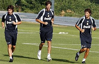 Granero, Van Nistelrooy y Ra�l en el entrenamiento