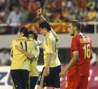 Riera dedica el tanto de la victoria a Daniel Jarque.