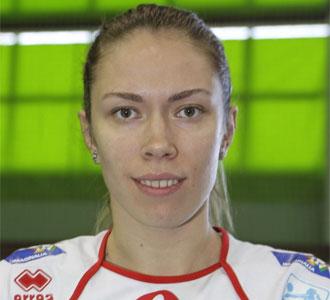Vita Prychepa, cuando militaba en el Voleibol Albacete