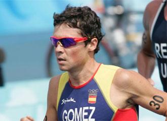 Javier G�mez Noya, durante una competici�n en los Juegos Ol�mpicos de Pek�n 2008