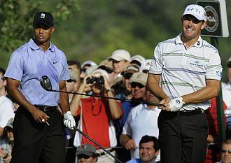 Tiger y Harrington compartieron partida.