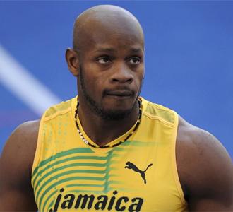 Asafa Powell se quedó con esta cara tras quedar casi fuera de los 100 metros