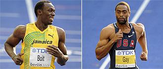 Usain Bolt y Tyson Gay