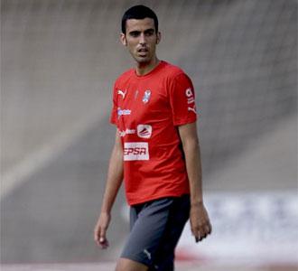 Ricardo, en un entrenamiento con el Tenerife