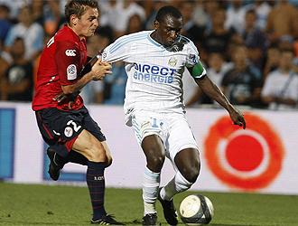 Niang, en un partido contra el Lille
