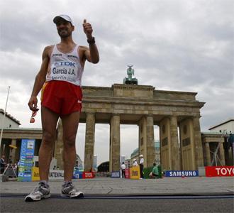 Garc�a Bragado, al t�rmino de la prueba en Berl�n