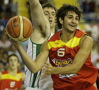 Ricky Rubio jugando con Espa�a