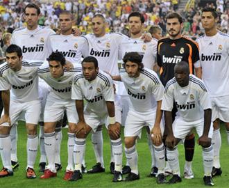 Once inicial del Real Madrid ante el Borussia