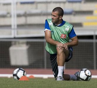 Manolo Martínez durante un entrenamiento