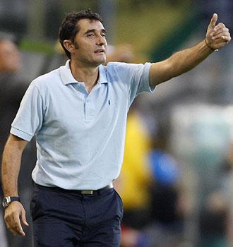 Valverde hace un gesto en un encuentro