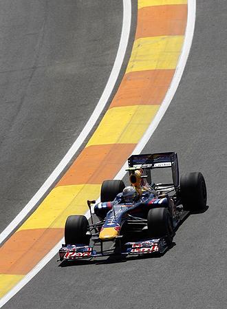 Vettel, en la sesión del viernes de Valencia.