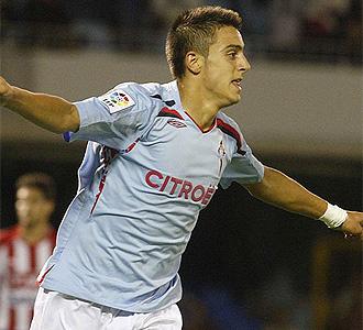 Joselu celebra un gol en esta pretemporada.