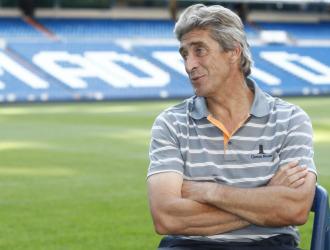Pellegrini, en la entrevista en el Bernabéu