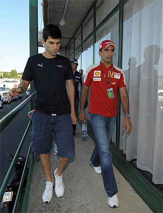 Marc Gené, junto a Jaime Alguersuari.