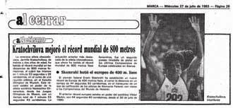 As� cont� MARCA el r�cord en 1983