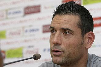 Andrés Palop, durante una rueda de prensa.