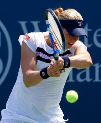 Kim Clijsters durante su estancia en el torneo de Cincinnati.