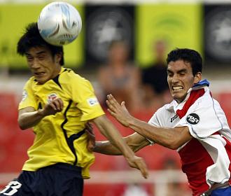 Alejandro Alfaro durante un partido con el Sevilla
