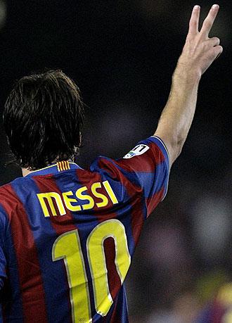 Messi durante el partido de la Supercopa de España