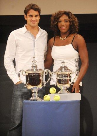 Roger Federer y Serena Williams, manos inocentes del sorteo.