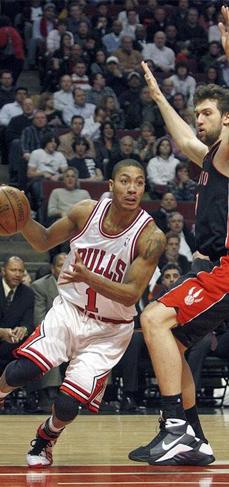 Derrick Rose jugando con los Bulls