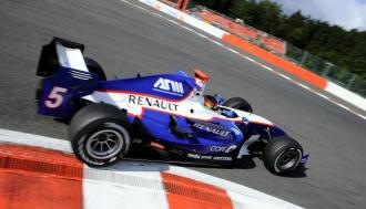 Rold�n Rodr�guez, en el circuito de Spa.