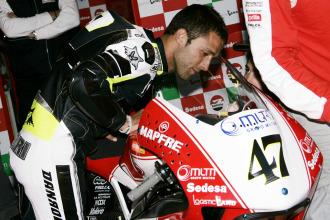Ángel Rodríguez, en 250 cc en Le Mans este año
