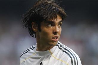 Kaká, durante el partido ante el Deportivo