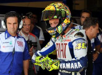 Rossi, tras la sesión de calificación en Indianápolis.