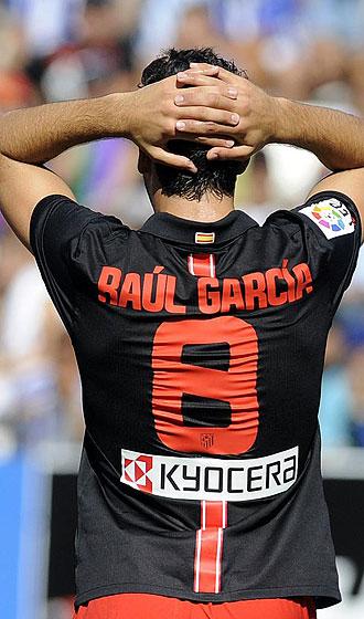 Raúl García se lamenta en La Rosaleda