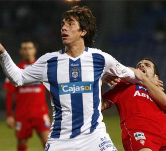 Sebastián Náyar, en un partido contra el Sporting de Gijón de la pasada temporada en la Liga BBVA