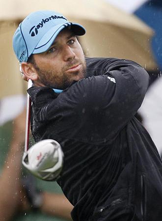 Sergio García golpea la bola