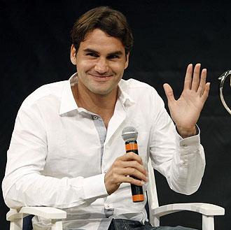 Roger Federer durante una rueda de prensa