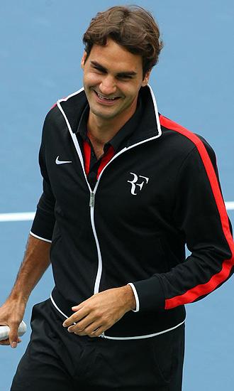 Roger Federer durante un acto promocional de US Open