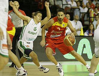 Navarro jugando contra Eslovenia