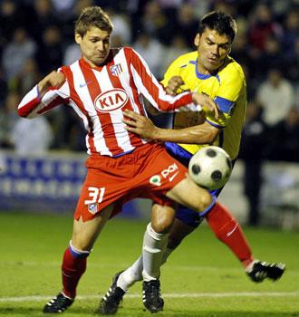Álex Quillo, en su debut con el Atlético de Madrid en Orihuela.