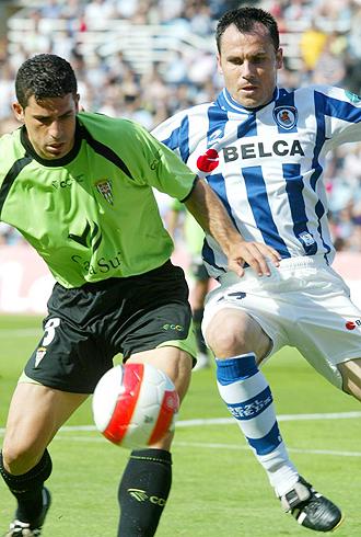 Gerardo, durante un partido de la Real Sociedad de hace dos temporadas contra el C�rdoba, el conjunto en el que jugar� esta temporada