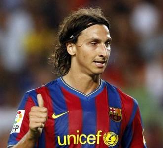Ibrahimovic, el pasado lunes en el Camp Nou