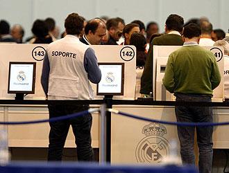 Imagen de la última asamblea del Real Madrid celebrada el pasado 9 de abril.