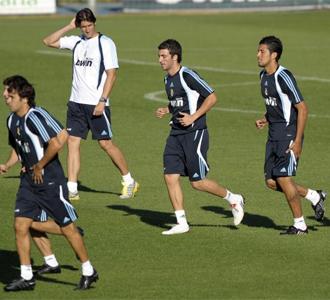 Entrenamiento matutino del Real Madrid en Valdebebas