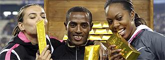 Isinbayeba, Bekele y Richards