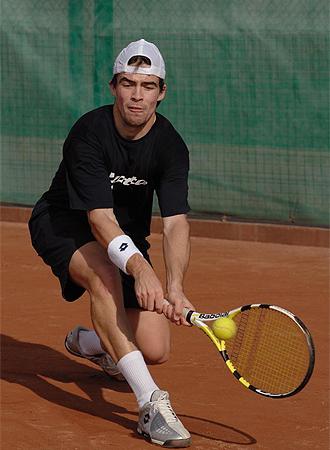 Pere Riba, en un entrenamiento