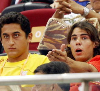Nicolás Almagro junto a Rafa Nadal.